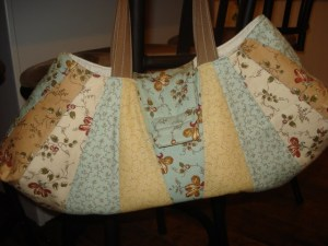 Dresden Purse made with Downton Abbey fabric (Lydia)
