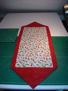 Stockings & Holly Tablerunner