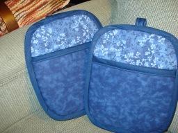 Blue Pocket Potholders #2