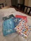 Kona Solids and some fun teal & coral fabric