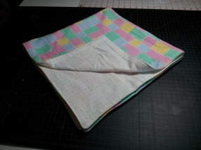Multicolor receiving blanket