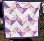 Pink and Purple Chevron Quilt (2)
