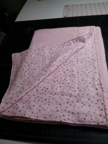 Pink receiving blanket